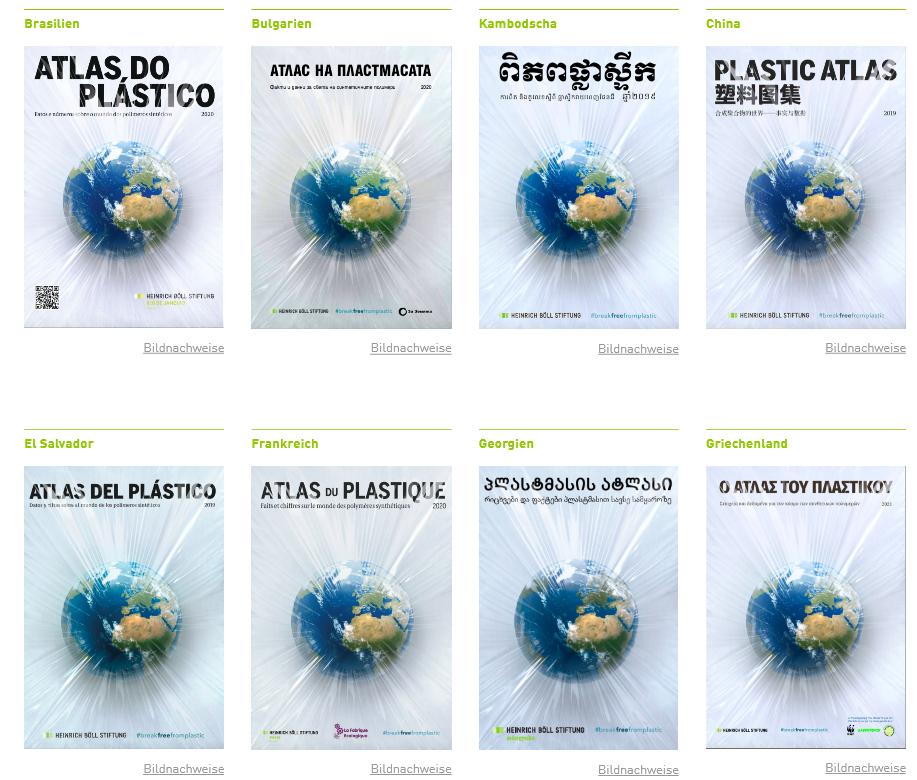 Plastikatlanten – Übersetzungen und Begleitmaterialien